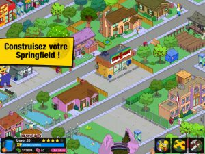 Application iPad iPhone Les Simpson Springfield