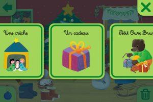 Appli iPad Calendrier de l'Avent Petit ours brun