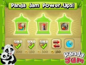 Appli iPhone iPad Panda Jam casse les briques