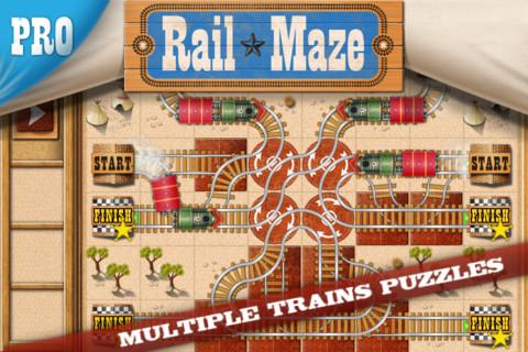 Appli gratuite train Rail Maze pro
