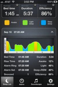 Application iPhone iPad Sleep Time Alarm Clock
