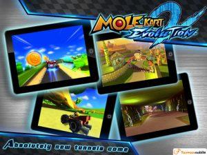 Application iPhone ipad Mole Kart 2 Evolution