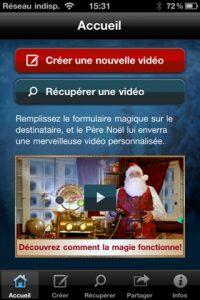 Appli gratuite Père Noël Magique