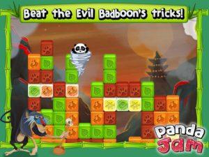 Application gratuite Panda Jam casser les briques