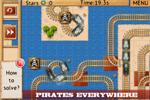 Appli iPad train Rail Maze pro