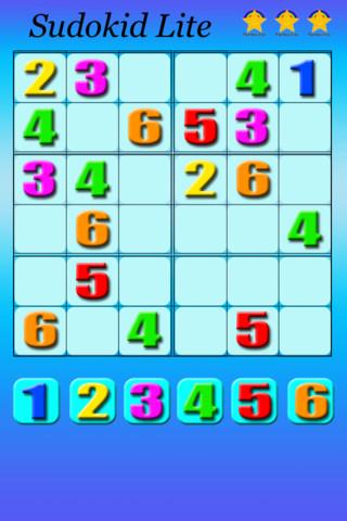 Appli ipad Sudoku Sudokid Lite
